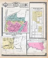 Mankato City and Environs - Section 5, Tinkcom's Add., Minneopa State Park, Mankato Springs, Blue Earth County 1914